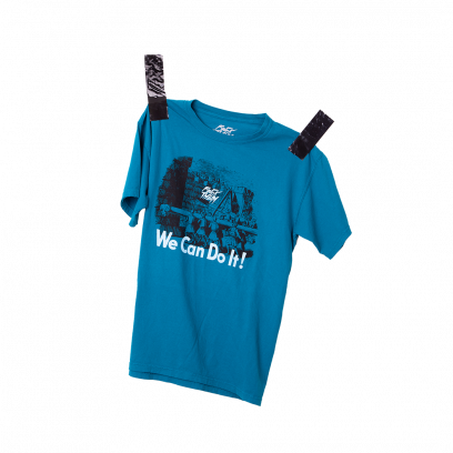 T-shirt We Can Do It, blue