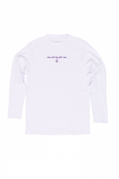 Long sleeve T-shirt MNKPD White