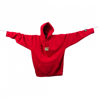 Hoodie F*CK THEM winter limited fire red / mint
